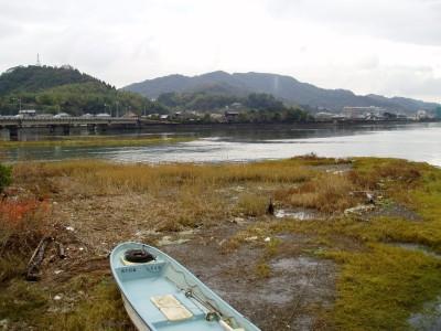 江無田川・末広川と臼杵川の合流地点